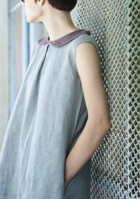 linen dress in love