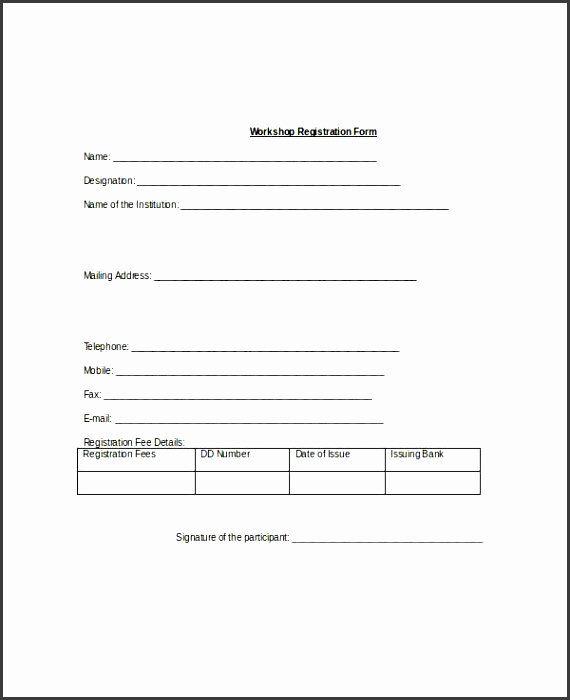 Registration Form Template Microsoft Word Elegant 10 Registration Form Template Word Sample Registration Form Online Registration Form Registration Form Sample