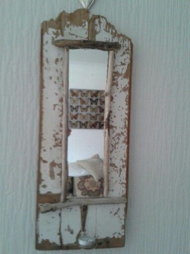 Rustic Mirror frame made from drift wood