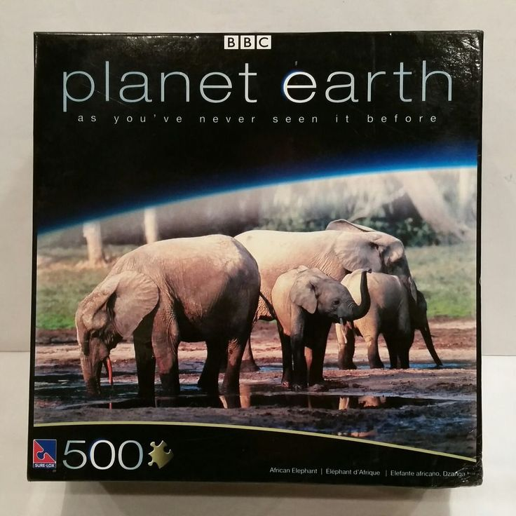 BBC Planet Earth African Elephant 500 Piece Jigsaw Puzzle Elephants Jungles New #BBC