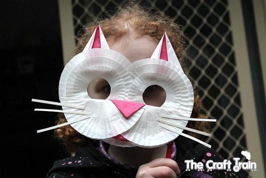 DIY Animal Masks DIY The Owl and the Pussy Cat Cupcake Case Masks DIY Animal Masks
