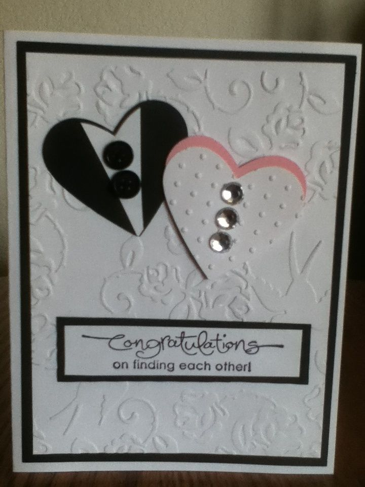 Wedding Dry Embossed Card Great Use Of The Hearts