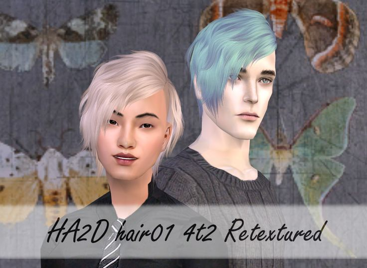 HA2D Hair001 4t2 Retextured  It took me a while, but I finally got to post these. The hairs use Io's V.2 textures, are available for all ages, both for male and female sims. Elders keep their colours,...