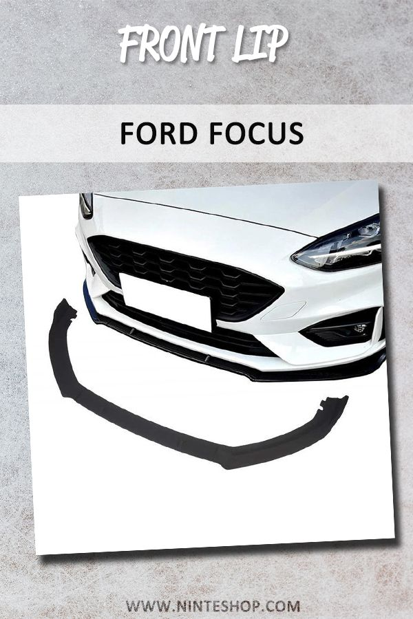 Ninte Ford Focus St Line 2019 2020 3 Pcs Abs Matt Black Unpainted Front Bumper Lip In 2020 Ford Focus Ford Focus St Ford Focus Accessories