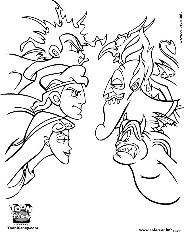 84 best Disney Hercules coloring pages Disney images on Pinterest ...