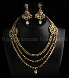 vardhaman goodwill -  exclusive polki jaipuri necklace with earrings
