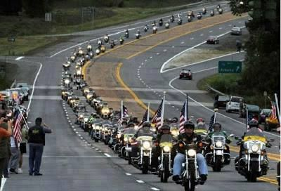 Bikes In Dc On 911 heading for Washington DC
