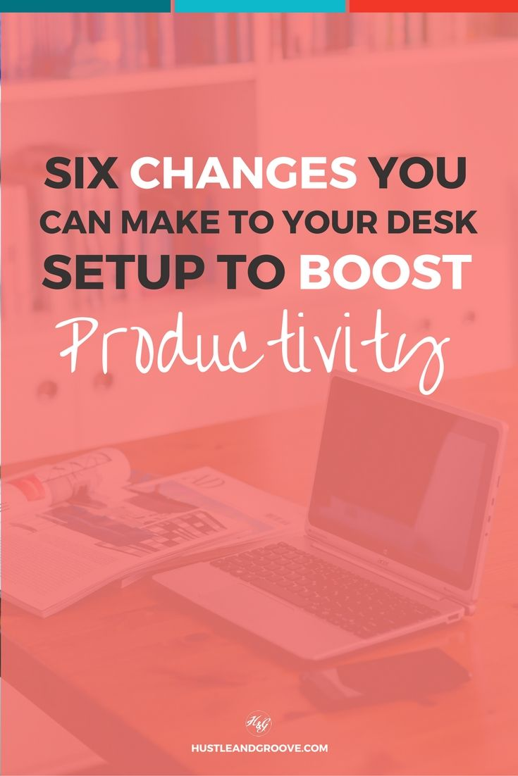 How your office setup can boost your productivity or destroy it! Click through to learn about six tweaks you can make now. http://www.hustleandgroove.com/boost-productivity-through-better-office-design