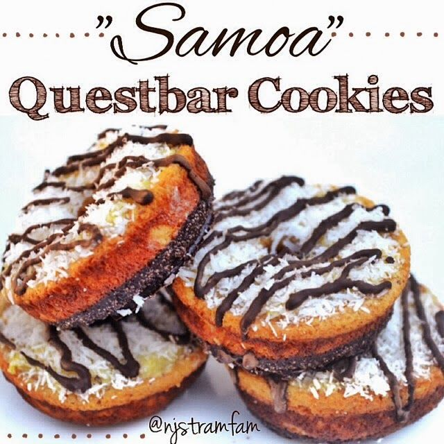 Samoa Questbar Cookies and 25 other protein bar recipes turned dessert!