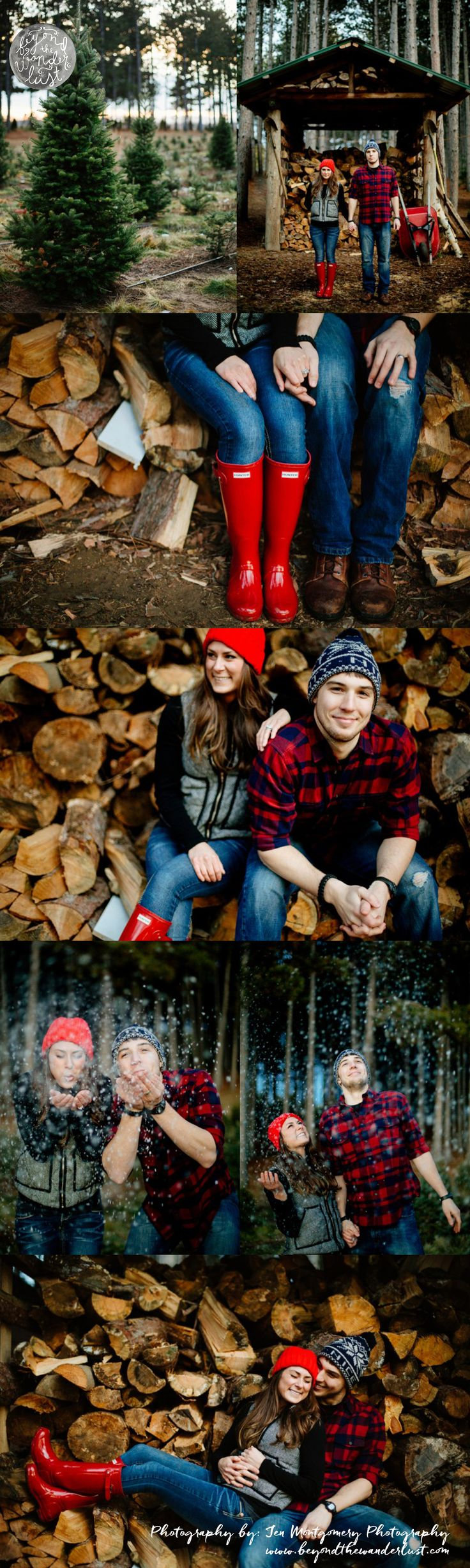 engagement pictures >> Christmas couple picture ideas