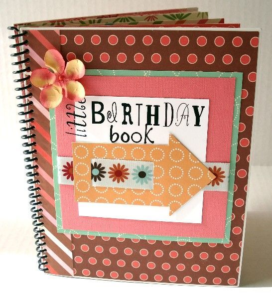 Birthday Card Organizer Book for Scrapbookers or Card Makers