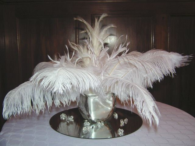 White feather centerpiece great gatsby ideas for prom