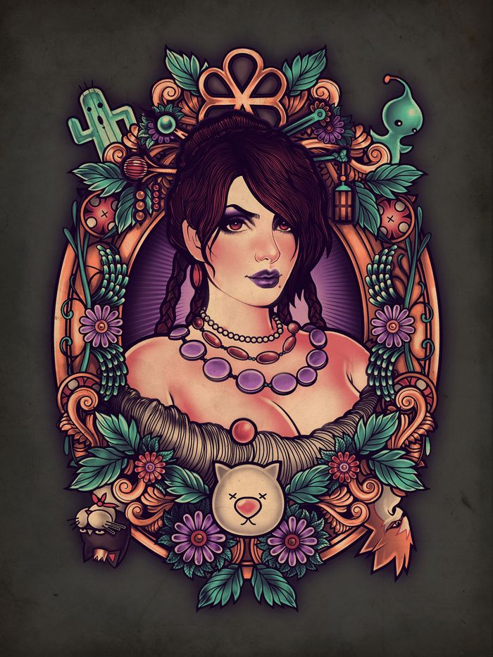 The Guardian Art Print #lulu #final #fantasy #ffx