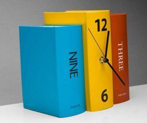 Horloge livres colorés : une invitation à prendre le temps de lire.