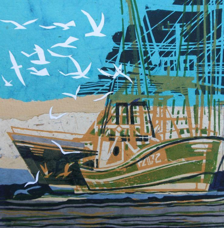 John Scott Martin Uk Artist Marine Paintings Linocuts