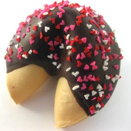Custom Fortune Cookies - dipped or not - delicious!