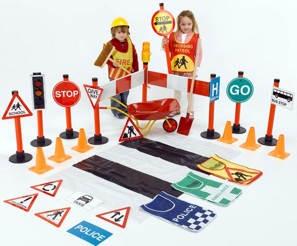 Road Safety Training sets (make from pvc pipes and gas comp tubes we brought back)