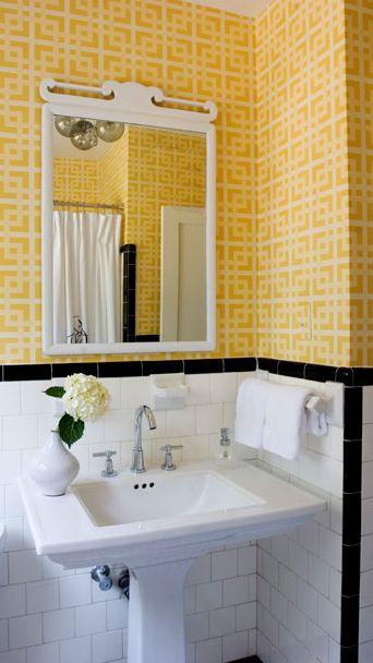 Lastest Yellow Tile Bathroom Decorating Ideas Antique Style Bathroom