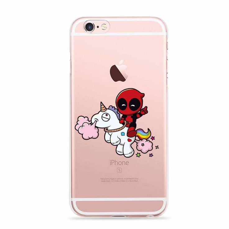 Marvel Comics Super Hero Cute DEADPOOL Phone Case for iPhone 5 5s 6 6s SE ic24