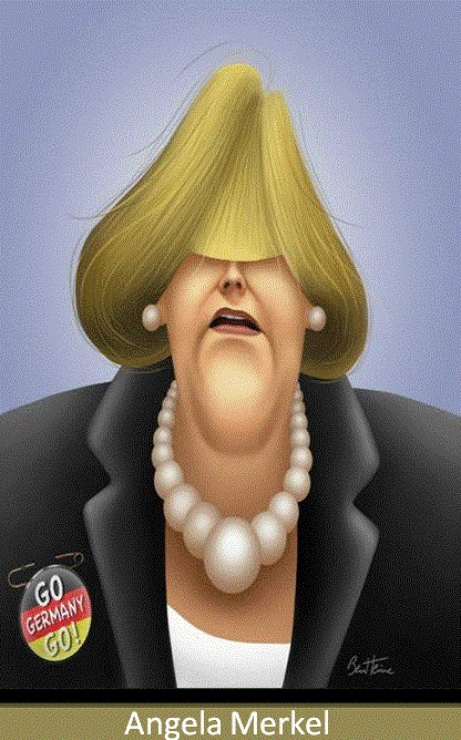 Angela Merkel. . ...FOLLOW THIS BOARD FOR GREAT CARICATURES OF PEOPLE WE KNOW..I'LL BE ADDING NEW PINS DAILY..