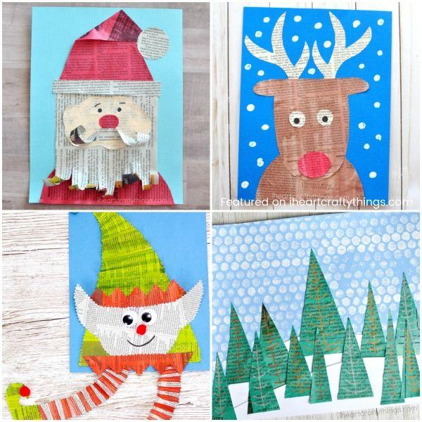 Christmas Newspaper Craft Ideas Xmas Pinterest Christmas