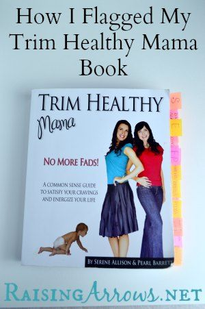 How I Flagged my Trim Healthy Mama Book   RaisingArrows.net (labels I used plus the page numbers included in the post)