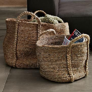 Braided Jute the soft Jute Collection: Woven Baskets, Living Rooms, Jute Baskets, Magazines Storage, Shops Bags, Bags Patterns, Soft Jute, Toys Storage, Yarns Projects