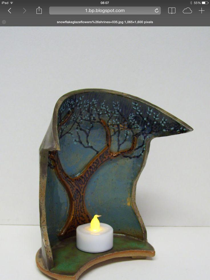 Ceramic tree shrine