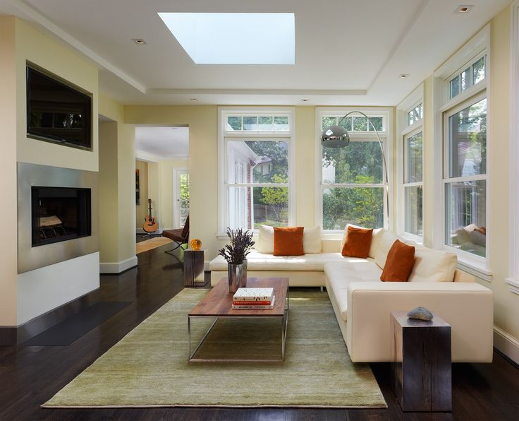 Superior Modern Family Room Addition With Skylight