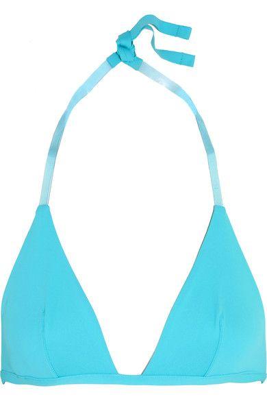 La Perla - Plastic Dream Pvc-trimmed Bikini Top - Turquoise - 4B