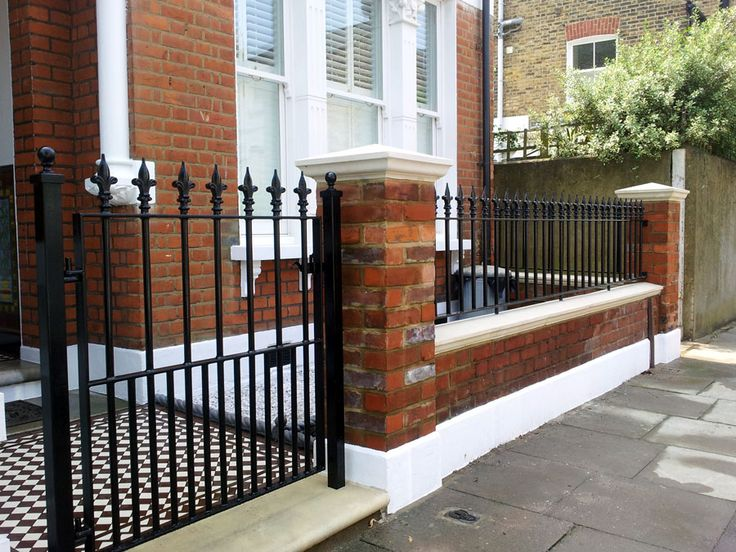 We install Victorian mosaic tiled paths, york stone steps, traditional iron railings and gates, new front walls, natural stone paving, bike and bin stores, hedges, and planting design. The garden photographed was in Clapham SW9 South London. Contact: James on 07720 401512 or james@myhomefront.net