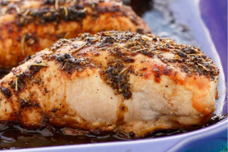 Pechugas de pollo con vinagre balsámico al horno