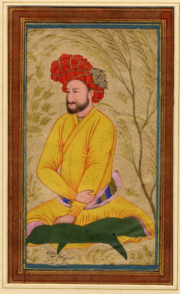 Kamtarín Riḍá Muṣavvir DescriptionPainting. Portrait. A doctor, Ḥakím Shifá'í, sitting crosslegged. Painted in gouache and gilded on paper. Producer nameSchool of/style of: Mu'in Musavvir biography School/styleIsfahan School Culture/periodSafavid dynasty term details Date1630-1640