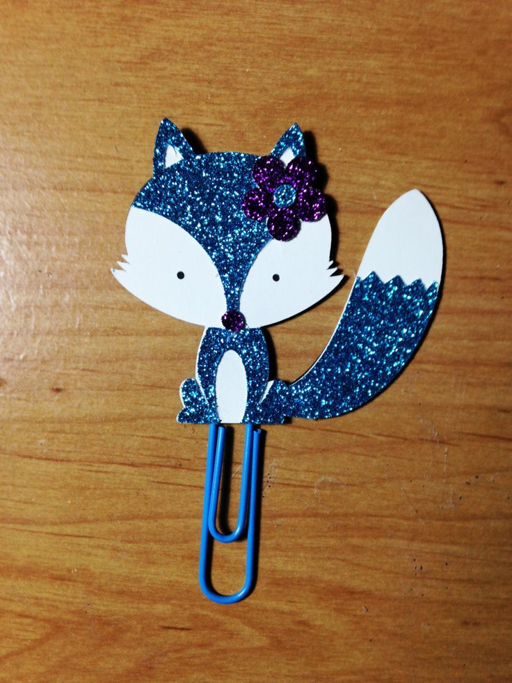 Blue Fox Planner Clip by TheCleverDesign on Etsy