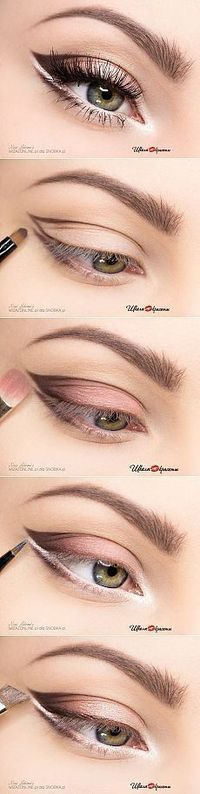 Make-up-Ideen: Step-Make-up für helle Augen die P…