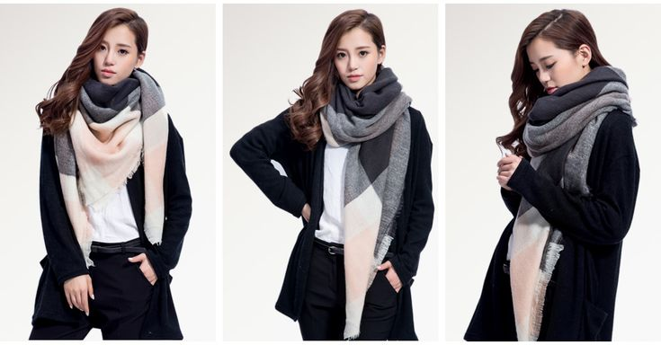 Cool 2016 Brand Scarf Women Fashion Scarves Top quality Blankets Soft Cashmere Winter Scarf warm Square Plaid Shawl ZA 009