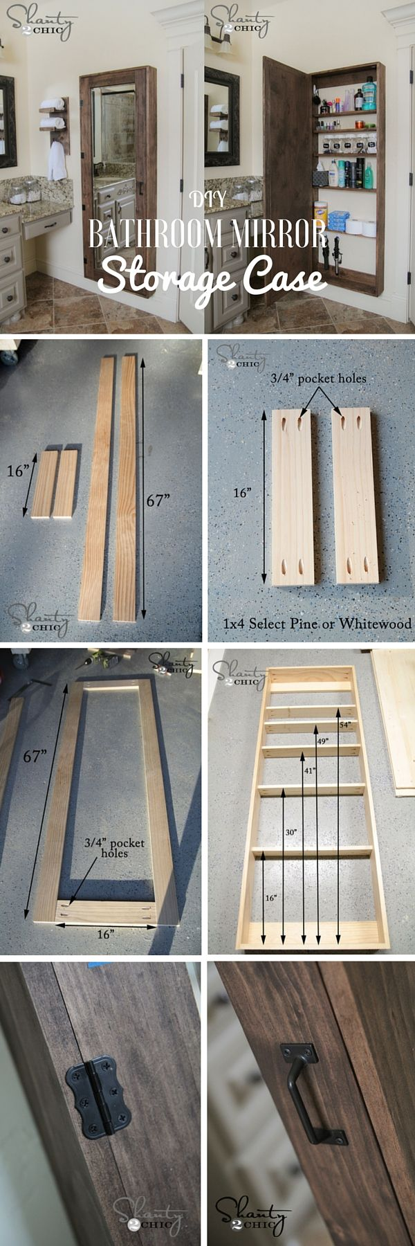 Check out the tutorial: DIY Bathroom Mirror Storage Case #ISDDIY #ISDDecor @istandarddesign