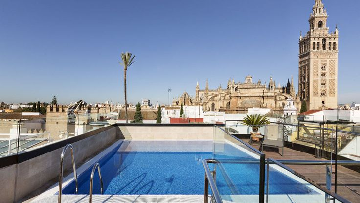 Hotel Casa 1800 Sevilla, Official Site - Boutique Hotel in Sevilla Best Boutique Hotels, Seville Spain, Travel Essentials, Antique Furniture, Rooftop, Cathedral, The Neighbourhood, Patio, Outdoor Decor