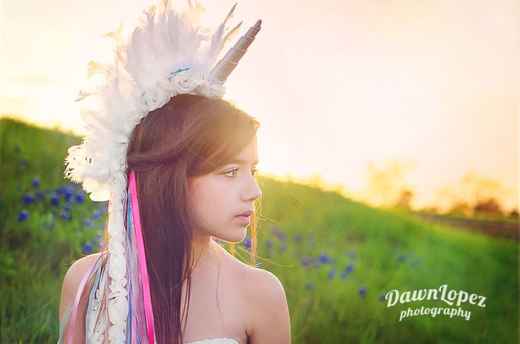 Magical Unicorn bluebonnets photography session #fortworth #keller #childhood #photographer #light #leaks #flowers #unicorn #wildflower #princess #outdoor #tween #teen #mystical #dawnlopezphotography: