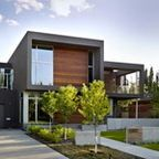 Modern exterior with horizontal lines
