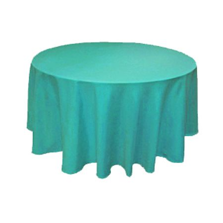 """120"""" Round Teal Turquoise Tablecloth by smartyhadaparty.com"""
