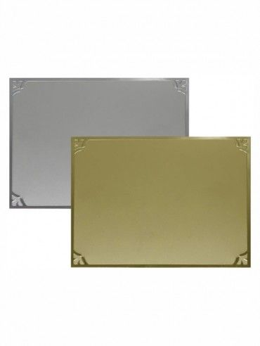 Plachetă cu motive la colţuri 13 x 8,5 cm. Cod produs: 21-56313.