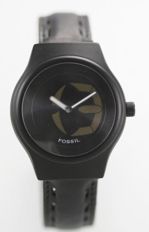 Fossil Big Tic Mens Leather Stainless Steel Water Resistant Quartz Battery Watch