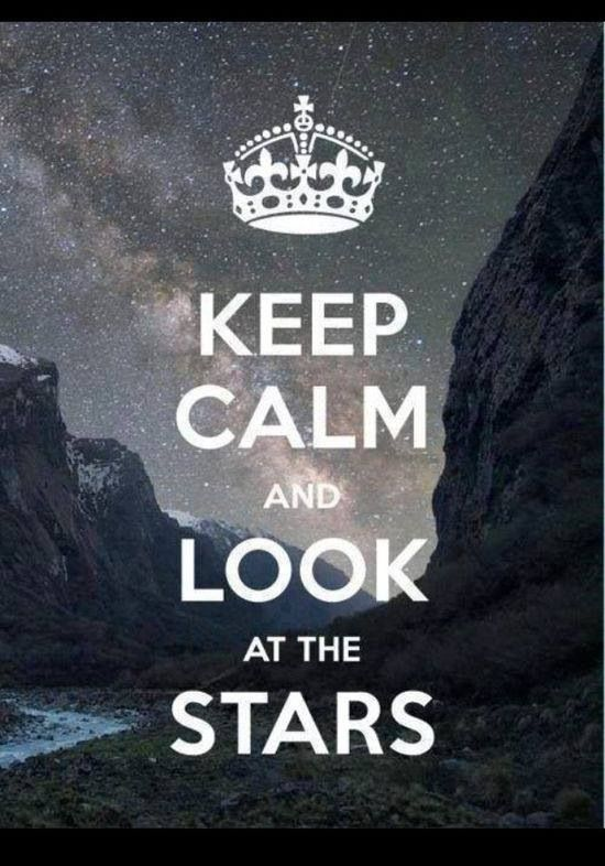 Keep calm and look at the stars! #BigWildSleepout #camping #nature