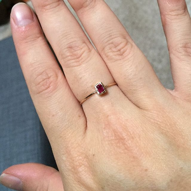 Dainty and absolutely beautiful. July birthstone for my first child.
