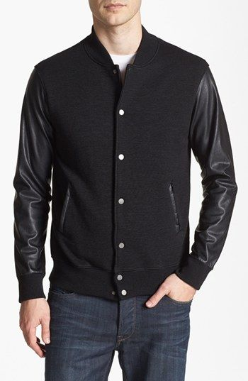 Velvet by Graham & Spencer Varsity Jacket available at #Nordstrom
