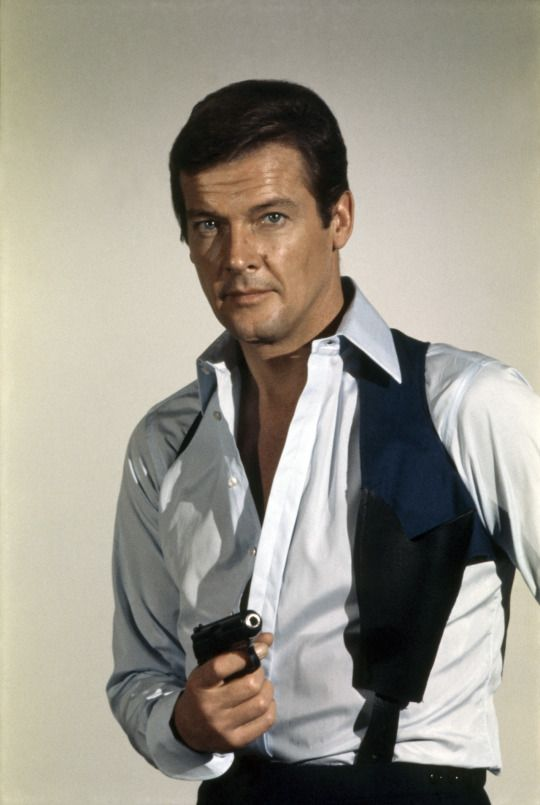 Roger Moore, James Bond, in 'Live and Let Die' 1973