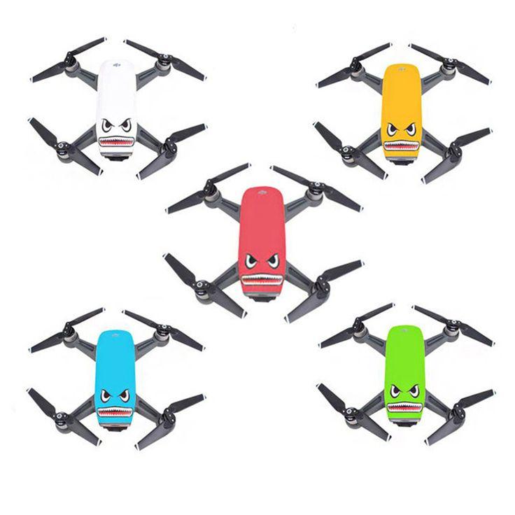 >> Click to Buy << Cool Shark PVC 3M Glue Camera Drone Decals Skin Sticker for DJI Spark Drone & Battery (2 sets. blue eye set & black eye set) #Affiliate