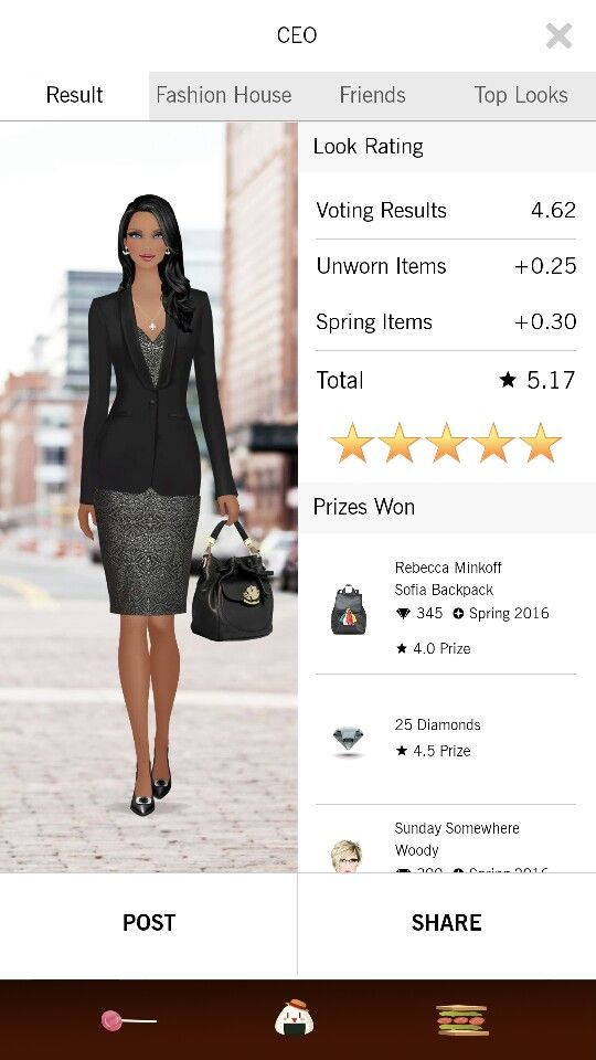 CEO look on Covet Fashion.
