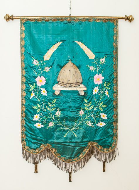 Early Odd Fellows Embroidered Banner V